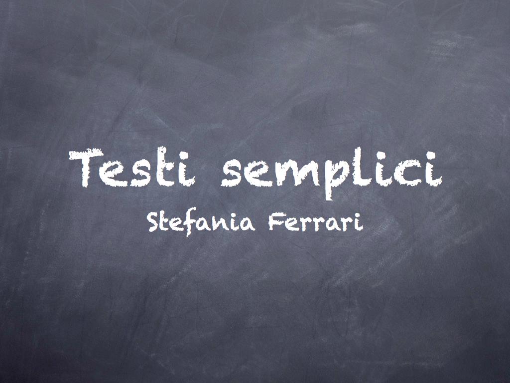 Testi semplici